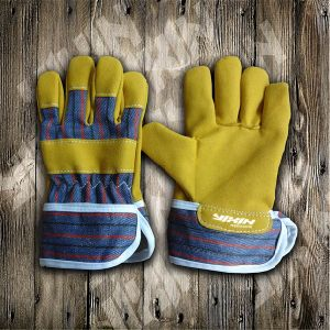 Children Glove-Yellow Micro Fiber Glove-Work Glove-Labor Glove-Safety Glove-Glove pictures & photos