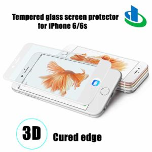 3D 9h Curved Edge Tempered Glass Screen Shield for iPhone 6 / 6s (+PC Plate) pictures & photos