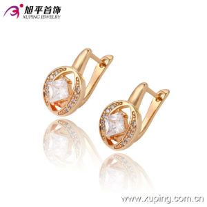 90882 New Arrival Fashion Elegant Gold-Plated Woman Crystal Jewelry Earring Hoops pictures & photos