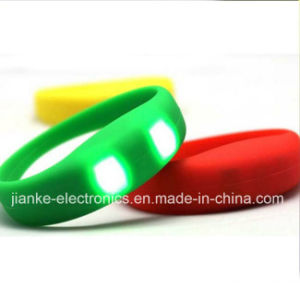 High Quality LED Bracelet Christmas Gift with Logo Print (4010) pictures & photos