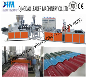Plastic Corrugated Sheet Machinery PVC Roofing Sheet Machine pictures & photos