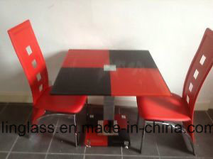 Color Pattern Fritted Table Top Glass for Kitchen Room pictures & photos