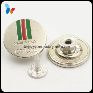 Custom Flag Logo Alloy Jeans Button Metal Silver Tack Button pictures & photos