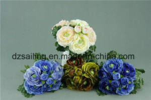 Colorful Ranunculus Bouquet Artificial Flower (SF14633D)