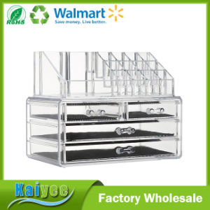 Clear Acrylic Makeup Cosmetic Organizer and Large 3 Drawer jewelry Organizer pictures & photos