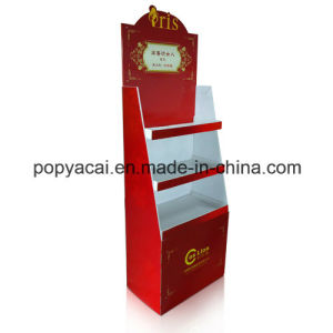 Cardboard Point of Sale Display with 4 Shelves Holding 30kg, Sturdy Cardboard Floor Display Stand pictures & photos