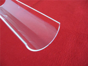 Customized Polish Arc Clear Quartz Glass Plate pictures & photos