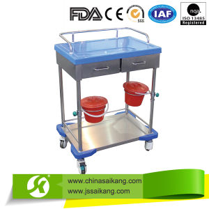 Skh002 High Quality Hospital Medical Stainless Steel Medicine-Change Trolley /Cart pictures & photos