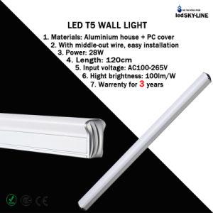 4 Feet 28W T5 LED Fluorescent Tube Wall Light AC85-265V Warrenty for 3 Years