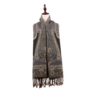 Elegant Women Long Scarf Jacquard Pashmina for Winter pictures & photos