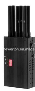 Portable 3G 4G Jammer Block Mobile Cell Phone CDMA GSM GPS WiFi Lojack pictures & photos