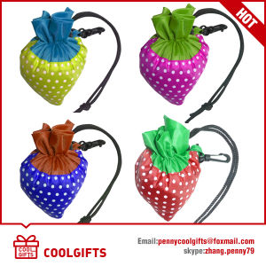 Colorful Foldable 190t Polyester Strawberry Bag for Promotional Gift pictures & photos