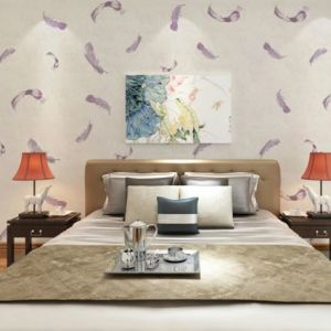 Seamless Classic Luxury Feather Embossing Wallpaper Fabric Hotel Bedroom Livingroom pictures & photos