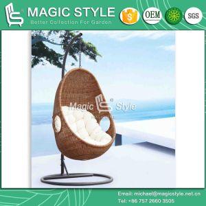 Outdoor Rattan Swing Chair Garden Wicker Hammock (Magic Style) pictures & photos