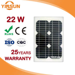 Factory Direct Sale 22W Solar Panel for Solar Power System pictures & photos