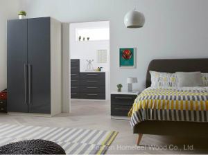 Lewis Grey Color High Glossy Bedroom Sets (HF-JL0808) pictures & photos