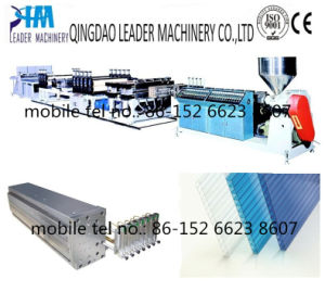 Polycarbonate PC Hollow Type Sunlight Board Extrusion Line pictures & photos