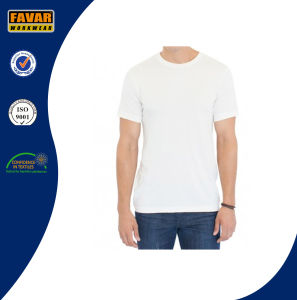 Men′s Short Sleeve Organic Cotton Tee Shirt