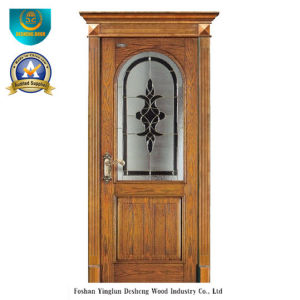 Classic European Solid Wood Door with Glass (ds-8022) pictures & photos