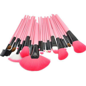 24 Pieces Pink Color Set Cosmetic Brush Professional Makeup Brush pictures & photos