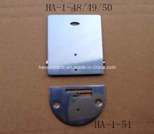 Domestic Part/Sewing Parts/Throat Plate for Household Machine with Slide Plate Complete (HA-1-51) pictures & photos