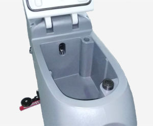 Battery Powered Hand Hpush Floor Scrubber for Station pictures & photos