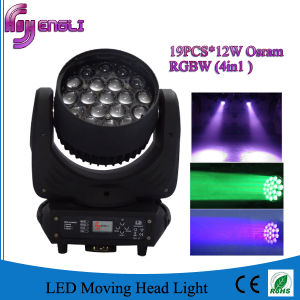 4in1 19PCS*12W LED Moving Head Wash Light (HL-004BM) pictures & photos