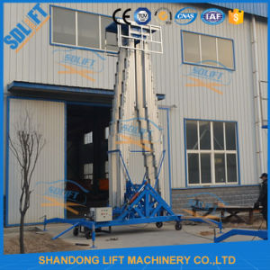 High Speed Lift Aerial Type Double Extension Ladders Work Platform pictures & photos