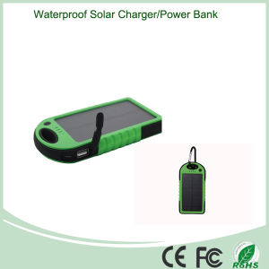 5000mAh Outdoor Portable Solar Charger with LED Light (SC-01-6) pictures & photos