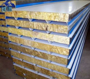 Building Material Rock Wool Composite Roof Sandwich Panel
