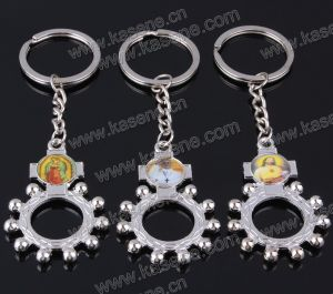 Wholesale Alloy Religious Keychain Rosary Keyring Pendant pictures & photos