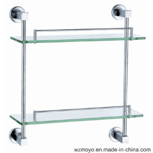Stainless Steel Base Double Glass Shelf pictures & photos