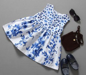 Fashion Flower Baby Dress in Froks with Transfer Printing pictures & photos