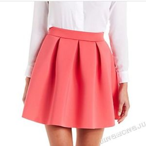 Ladies Polyester Span Knit Sassy MID Evening Party Skirt with Pleated Waist Design