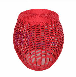 New Style Creative Hand Weaving Colorful PE Rattan Stool pictures & photos