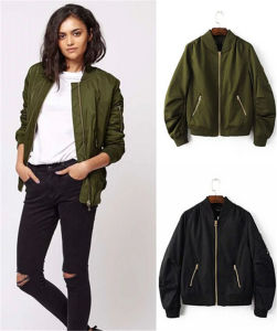 Wholesale Fashion Army Flight Life Spring and Autumn Woman Collar Jacket pictures & photos