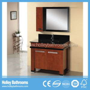 Excellent Classic Solid Wood Bathroom Furnitures with Round Handle (BV179W) pictures & photos