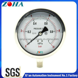 Shakeproof Industrial Pressure Gauge with Stainless Steel Material pictures & photos