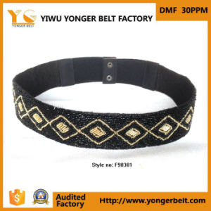 Latest Fashion Elastic & Beads Belts in High Quality for Women