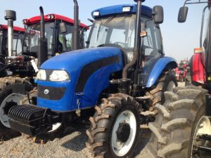 100HP 4WD Agricultural Machinery Tractor with Front Loader/ Backhoe pictures & photos