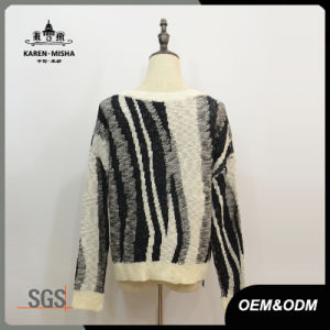 Women Zebra-Stripe Leisure Knitwear Pullover Sweater pictures & photos