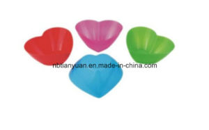 Plastic Bowl with Heart Shape