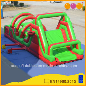 Commercial Inflatable Obstacle Course with Slide (aq1489) pictures & photos