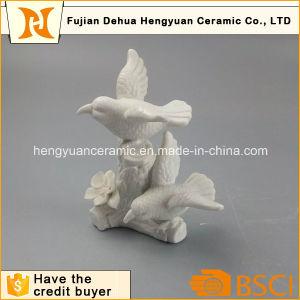 Garden Decoration White Ceramic Bird Craft pictures & photos