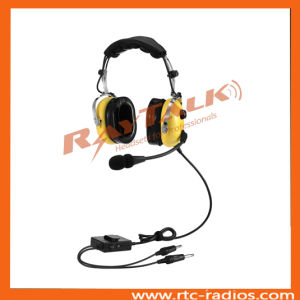 Noise Cancelling Headband Style Aviation Anr Headset with Electret Microphone pictures & photos