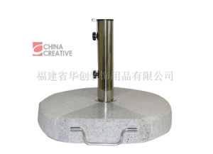 Round Umbrella Base Half-Polished Half-Flamed