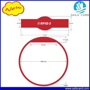 45-74mm Different Size RFID Silicone Wristband for Party pictures & photos