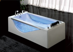 1900mm Glass One Person Freestanding Massage Bathtub (8262) pictures & photos