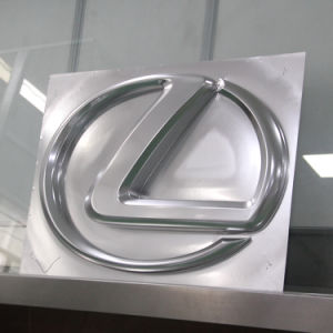 Auto Showroom Advertising Chrome Acrylic Wall Mounted LED Lighting Car Sign pictures & photos