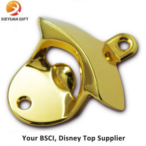 Custom Gold Plating Zinc Alloy Beer Wall Opener pictures & photos